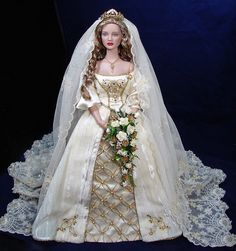 Stella wears Franklin Mint Faberge Wedding Gown | por Loves Dolls