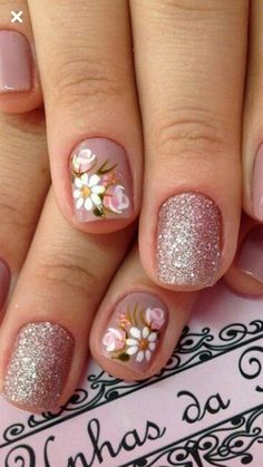 New Vintage Cafe Art Design 44 Ideas Trendy Nail Art, Stylish Nails, Cute Nails, My Nails, Summer Nails, Spring Nails, Beauty And Fashion, Fabulous Nails, Cute Nail Designs