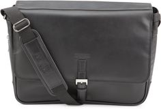 Kenneth Cole Reaction Expandable Computer Compatible Messenger Bag. Nappa-leather. Rich Top Grain Nappa Leather Exterior. Secure and stylish single gusset flapover construction expands for greater carrying capacity. Main compartment includes a cell phone pocket, card pockets, pen/pencil holders, and full length zipper pocket; and a padded pocket to accommodate a laptop computer with up to a 15.4 inches screen. Full length zipper pocket under front flap for added storage space.