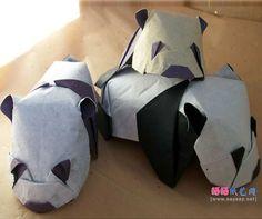 可爱趴趴熊猫折纸成品图 Pillows, Cushions, Pillow Forms, Cushion, Scatter Cushions