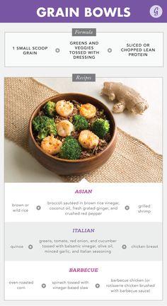1. Grain Bowls http://greatist.com/eat/easy-recipe-formulas
