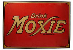 Drink Moxie Metal Advertising Sign, 1939