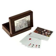 Boîtes en bois pour stockage carte à jouer titulaire Artisan ouvré: Amazon.fr: Jeux et Jouets