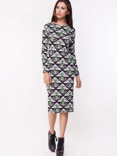 ff23c5aa39 DAISY STREET Evil Eye Print Bodycon Dress Party Dresses Online, Earrings  Online, Buy Dress