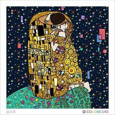 #kiss #GustavKlimt #coloringbook #coloring #colorcure #healing #therapy #masterpiece #coloringappforadults #thekiss #색칠공부 #색칠놀이 #어른색칠 #색칠스타그램 #painting #sketch #art #artwork #artist #colorful #beautiful #auction #glitter #star #klimt #coffeeshop