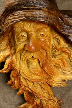 Wood Spirit Wooden Carving Christmas Gift by TreeWizWoodCarvings, $100.00