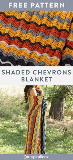 Free Knitting Pattern | Patons Canadiana Shaded Chevrons Knit Blanket | #Yarnspirations #FreeKnittingPattern #Patons #PatonsCanadiana #KnitBlanket #Caron #Bernat #LilySugarNcReam Afghan Patterns, Crochet Blanket Patterns, Knitting Patterns Free, Knit Patterns, Free Knitting, Baby Knitting, Crochet Ripple, Knit Or Crochet, Crochet Baby