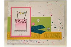 The Inky Scrapper: May Stamp of the Month Blog Hop: Celebrate with Cake #watercolorpaint