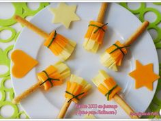 Recette Apéritif : Nimbus 2000 au fromage (apero halloween) par LaDinetteDeNelly