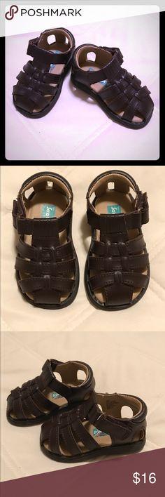 Selling this Scott David 'Sailor' Brown Leather Infant Sandals on Poshmark! My username is: camdenandbelle. #shopmycloset #poshmark #fashion #shopping #style #forsale #Scott David #Other