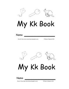 Emergent Reader: My Kk Book: Sight Words (look, at, the, I, see, a, you) 12 pages - Many more emergent readers available - $