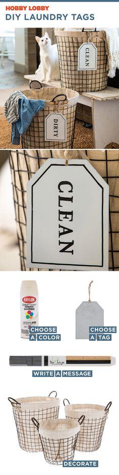 DIY Laundry Tags
