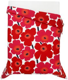 Marimekko Unikko Red Twin Comforter in Bed and Bath