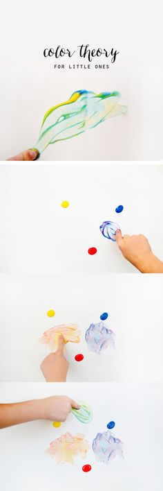 Some fun tips for exploring color with children. Don't forget to watch the video with your aspiring artists for a does of inspiration...