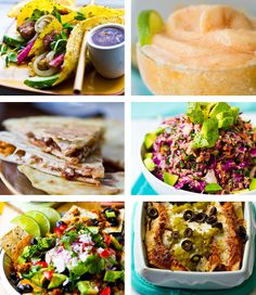 """""""Vegan Mexican Recipes: You'll love [the] creamy pumpkin seed guacamole, tempeh tacos, cheezy quesadillas, colorful loaded nachos topped with homemade cashew sour cream, baked enchiladas and a luscious watermelon lime frosty – these festive vegan, dairy-free recipes will have you wishing everyday was Cinco de Mayo!"""""""