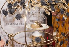 The Golden Phoenix was rolled out on a lush, Italian, Villari 24ct gold plated Maria Antoinette Princess Tea Trolley, and presented on a 24ct gold painted Empire Morning Cake Stand with Cloche. The presentation exceeded AED 100,000 (US$ 28,000).