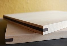 maple + walnut cutting board set.