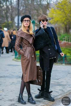 Nadja Bender and Catherine McNeil by STYLEDUMONDE Street Style Fashion Photography