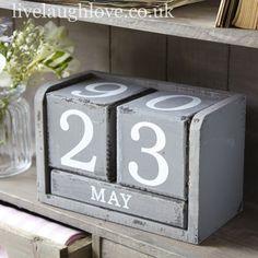Desk Calender - Grey £14.95