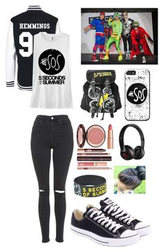 """""""5SOS Imagine for @linnywe!"""" by allisonawesome7 ❤ liked on Polyvore featuring Topshop, Converse, Charlotte Tilbury, Beats by Dr. Dre, bedroom and allisimagines"""