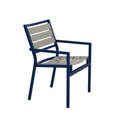 Tropitone Cabana Club Aluminum Slat Dining Chair (Set of 2) Finish: Greco, Fabric: Shell