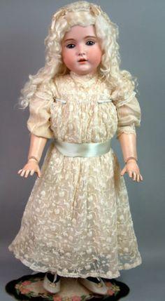 "Gorgeous Massive 32"" 171 Kestner Antique Child Doll w Gorgeous Lace Dress WOW | eBay"