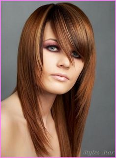 awesome Layered haircuts for long straight hair with side bangs