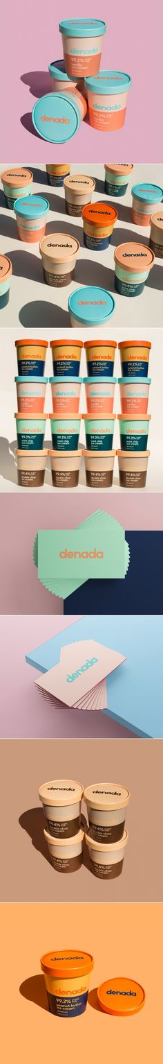 Denada Ice Cream Is Bringing The Flavor With These Colorful Pints The Dielin Food Packaging Design, Beauty Packaging, Print Packaging, Packaging Design Inspiration, Branding Design, Logo Design, Product Packaging, Graphic Design Print, Ad Design