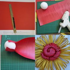 Paper Flower using Paper w/Slits