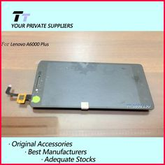 100% Original New For lenovo A6000plus LCD display touch Screen panel sensor lens glass digitizer Mobile phone Free Shipping