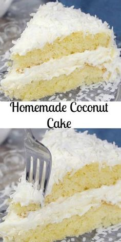 Coconut Cake a delicious soft moist cake with a creamy cream cheese frosting. Topped with coconut flakes a perfect Christmas dessert. Coconut Cake Easy, Best Coconut Cake Recipe, Coconut Sheet Cakes, Coconut Desserts, Coconut Recipes, Delicious Desserts, Coconut Cupcakes, Coconut Cake Frosting, Recipe With Coconut Flakes