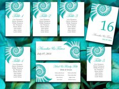 Beach Wedding Fan Microsoft Word Template  Ceremony Program