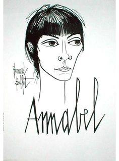 Bernard Buffet - Portrait of Annabel Buffet, 1960's