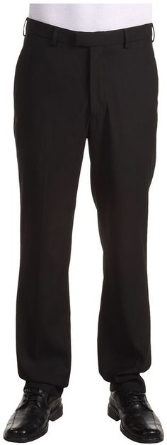 Perry Ellis Portfolio - Modern Fit Flat Front Bengaline Pant Men's Dress Pants