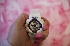Mani's and Baby-G's! A few of our favorite things! #watch #babyg