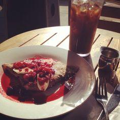 Crepe at Blue Daisy Cafe, Santa Monica