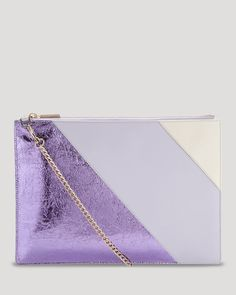 WHISTLES Whistles Rivington Clutch - 100% Exclusive. #whistles #bags #shoulder bags #clutch #metallic #leather #hand bags #