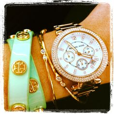 mint and gold jewellery