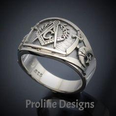 St Georg dragón templar plata 925 Sterling anillo con dorado-enchapados