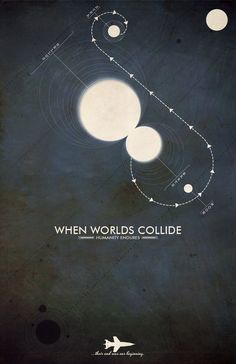 When Worlds Collide: Cult Scifi Movie Poster - 11x17 Vintage Inspired Art Print. $18.00, via Etsy.