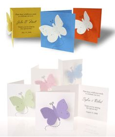 SALE Butterfly Thank You Seed Card Favours - $1.75 - Weddingfavours.ca