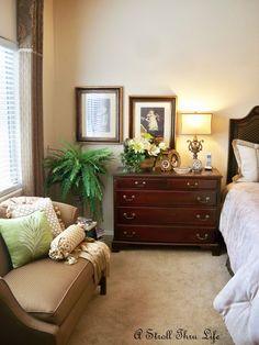A Stroll Thru Life: Fall In the Master Bedroom