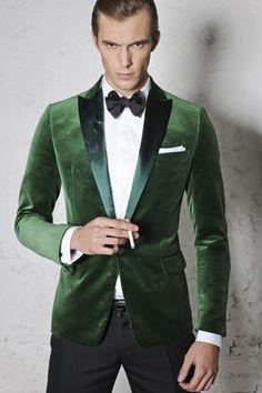 Green Velvet Dinner Jacket. Mmmmmm tasty
