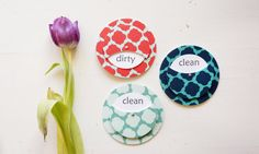 The Travel Collection - Clean Dirty Dishwasher Magnet - Marrakesh in 3 Colors
