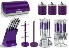 purple kitchen set kitchen accessories purple: Home & Kitchen Purple Home, Purple Kitchen Accessories, Purple Kitchen Decor, Gris Violet, My Favorite Color, My Favorite Things, All Things Purple, Purple Stuff, Malva