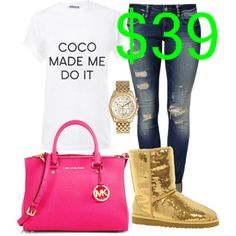 Untitled #140 by cierrahenry01 on Polyvore featuring Mavi, UGG Australia, MICHAEL Michael Kors and Michael Kors