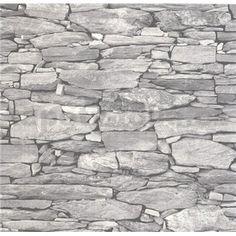 Vliesové tapety na zeď Collage kámenná zeď šedá Waves, Firewood, Products, Woodburning, Wave, Wood Fuel, Gadget, Beach Waves