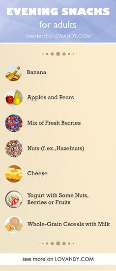 Healthy night snacks for adults Healthy Night Snacks, Healthy Nights, Healthy Snacks For Diabetics, Diabetic Recipes, Diabetic Foods, Healthy Recipes, Healthy Food, Evening Snacks For Kids, Whole Grain Cereals