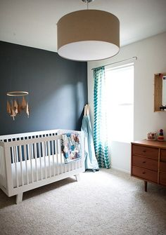 A Touch of Drama: Black & Navy Accent Walls in Kids Rooms