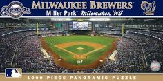 Milwaukee Brewers Panoramic Stadium Puzzle